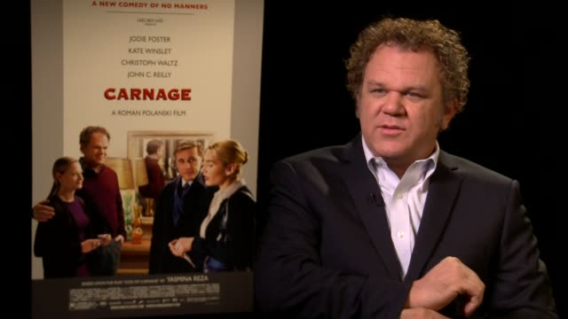 stockvideo's en b-roll-footage met john c reilly on working with roman polanski - roman polanski