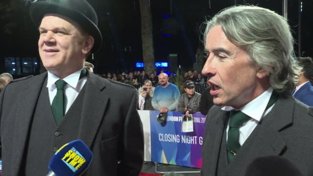 vidéos et rushes de interview john c reilly steve coogan on there on screen relationship and annoying habits the working relationship was a lot like stan laurel and... - steve coogan