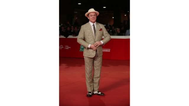 gif john c reilly walks the red carpet ahead of the 'stan ollie' screening during the 13th rome film fest at gif rome film fest 2018 at auditorium... - rome film fest stock videos and b-roll footage