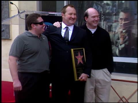 john carroll lynch at the dediction of randy quaid's walk of fame star at the hollywood walk of fame in hollywood, california on october 7, 2003. - randy quaid stock videos & royalty-free footage