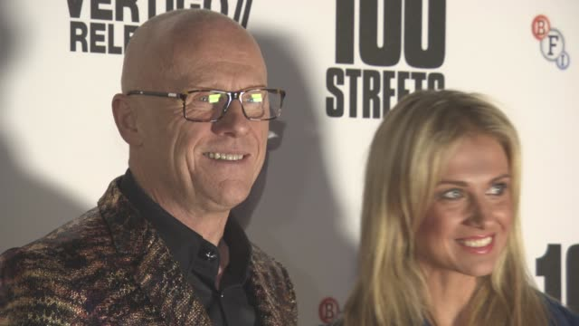 john caudwell modesta vzesniauskaite at '100 streets' uk film premiere at bfi southbank on november 08 2016 in london england - bfi southbank stock videos & royalty-free footage