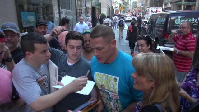 john cena arrives at the 'today' show celebrity sightings in new york on june 22 2015 in new york city new york - cena stock videos & royalty-free footage