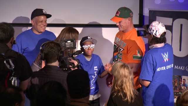 john cena at dave buster's time square on august 21 2015 in new york city - cena stock videos & royalty-free footage