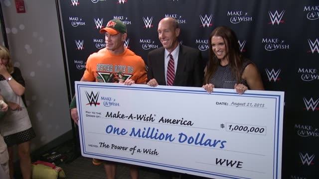 john cena david williams and stephanie mcmahon at dave buster's time square on august 21 2015 in new york city - cena stock videos & royalty-free footage