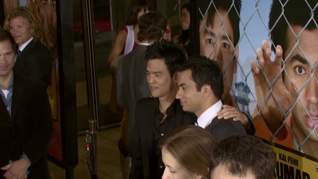 john cho and kal penn at the 'harold and kumar escape from guantanamo bay' premiere at arclight cinemas in hollywood, california on april 18, 2008. - arclight cinemas hollywood stock videos & royalty-free footage