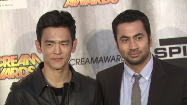 john cho and kal penn at the spike tv's 'scream awards at universal city ca - universal city stock videos & royalty-free footage