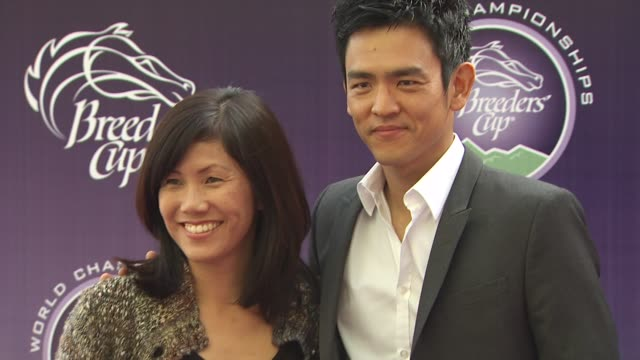 john cho at the breeders' cup world thoroughbred championships at arcadia ca - championships stock videos & royalty-free footage
