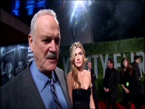 john cleese and his daughter camilla arrive for the vanity fair party - john cleese stock videos & royalty-free footage
