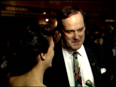 john cleese at the 1989 golden globe awards at the beverly hilton in beverly hills california on january 28 1989 - john cleese stock videos & royalty-free footage