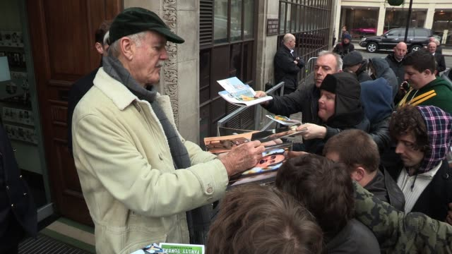 john cleese leaves bbc radio one after talking about his upcoming dvd sighted john cleese at bbc radio one studios on november 21 2011 in london... - john cleese stock videos & royalty-free footage