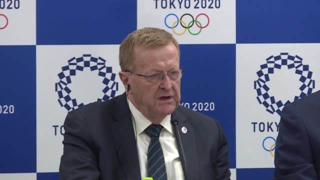 john coates vice president of the international olympic committee refuses to politicise the tokyo 2020 games after the success of the winter games... - südkorea stock-videos und b-roll-filmmaterial