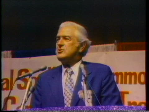 john connally compares himself with jimmy carter as a peanut farmer at a speech in alabama 1976 - john connally stock videos & royalty-free footage