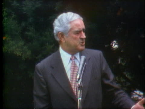 john connally criticizes george mcgovern for saying he will pull out of vietnam and return home all prisoners of war and soldiers within 90 days if... - john connally stock videos & royalty-free footage