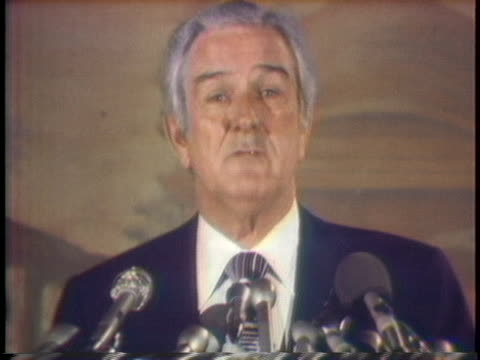 john connally former texas governor offers president gerald ford advice on how to approach his reelection campaign - john connally stock videos & royalty-free footage