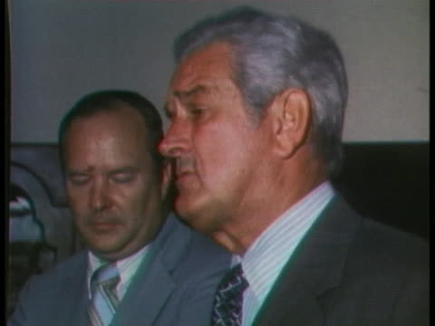 john connally says that even though he is committed to the democratic party the best candidate for the president of the united states is richard nixon - john connally stock videos & royalty-free footage
