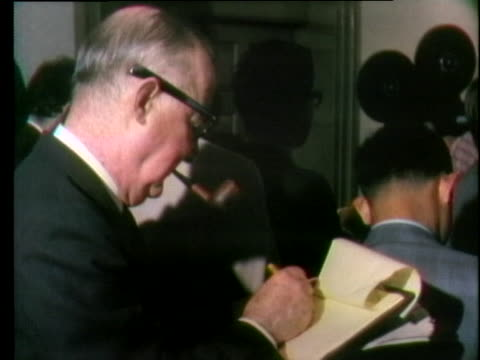 john connally speaks about his relationship with president richard nixon during a press conference - john connally stock videos & royalty-free footage