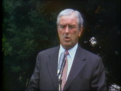 john connally speaks of his support for president richard nixon and his disagreements with the ideas of presidential candidate george mcgovern - john connally stock videos & royalty-free footage