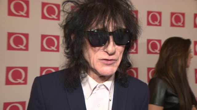 INTERVIEW John Cooper Clarke on winning 'Poet Laureate' award at Q Awards 2013 at The Grosvenor House Hotel on October 21 2013 in London England