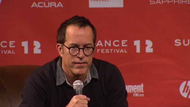 john cooper on films with women in lead roles at day 1 press conference of 2012 sundance film festival on 1/19/12 in park city utah - 1日目点の映像素材/bロール