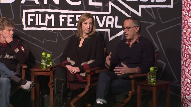 stockvideo's en b-roll-footage met john cooper on the variety of film submissions and independent film industry at opening day press conference - 2013 sundance film festival speech -... - sundance film festival
