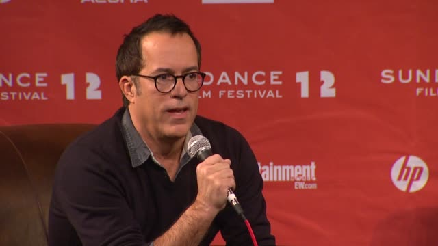 john cooper on this year's films at day 1 press conference of 2012 sundance film festival on 1/19/12 in park city utah - 1日目点の映像素材/bロール
