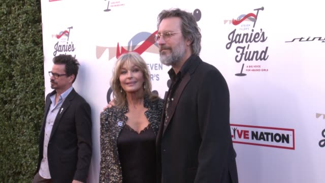 john corbett bo derek at steven tyler and live nation presents inaugural janie's fund gala grammy viewing party in los angeles ca - john corbett stock videos and b-roll footage