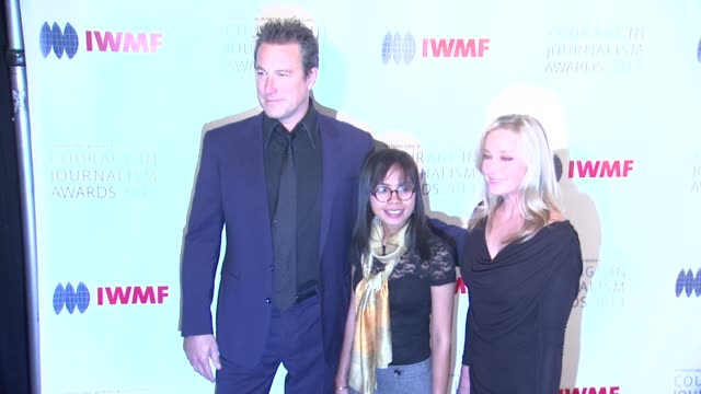 john corbett bopha phorn bo derek at 2013 international women's media foundation's courage in journalism awards in beverly hills ca on - john corbett stock videos and b-roll footage
