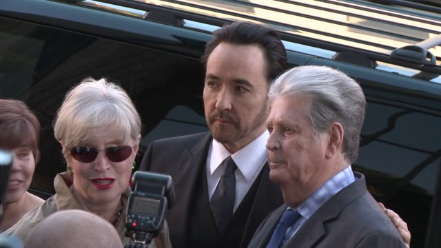 john cusack and brian wilson at the love mercy los angeles premiere at ampas samuel goldwyn theater on june 02 2015 in beverly hills california - samuel goldwyn theater stock videos & royalty-free footage