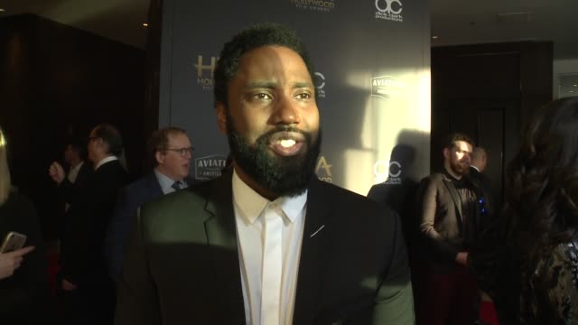 INTERVIEW John David Washington on the most exciting aspects of the Hollywood Film Awards at the 22nd Annual Hollywood Film Awards at The Beverly...