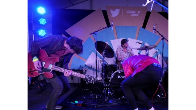 John Davidson Trevor Davis Jacob Bryant of The Brummies perform onstage at Twitter Event during the 2019 SXSW Conference and Festivals at Lustre...