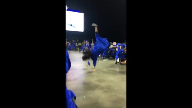 john decided to attempt a back flip after receiving his diploma but it ends up in a painful epic fail ouch - diploma stock videos & royalty-free footage