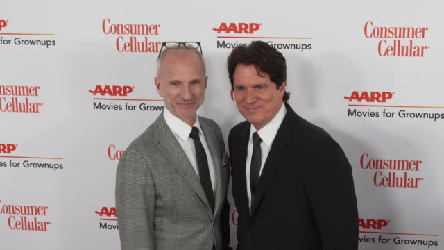 john deluca and rob marshall at the 18th annual movies for grownups awards at the beverly wilshire four seasons hotel on february 04, 2019 in beverly... - フォーシーズンズホテル点の映像素材/bロール
