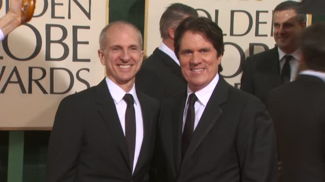 john deluca rob marshall at the 67th annual golden globe awards arrivals part 3 at beverly hills ca - ゴールデングローブ賞点の映像素材/bロール