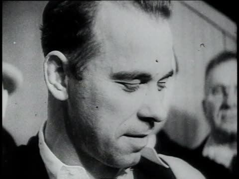 john dillinger's face / chicago illinois united states - john dillinger stock-videos und b-roll-filmmaterial