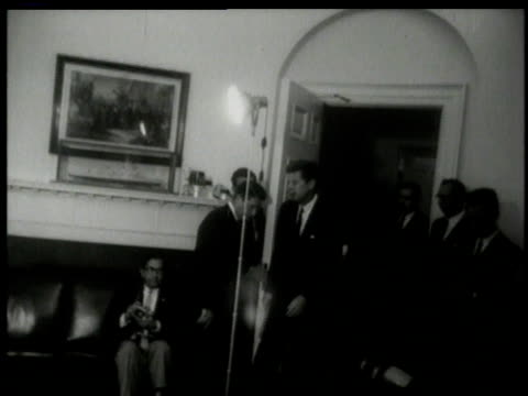 john f kennedy at press conference / washington dc united states - cuban missile crisis stock videos & royalty-free footage