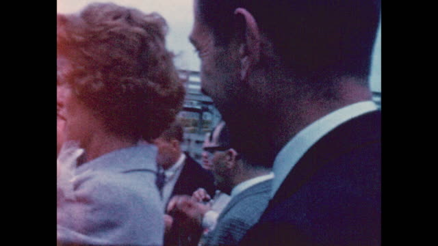john f. kennedy campaigning for his presidency at the sioux city iowa stockyards in 1959.footage is up close and personal and shows jfk shaking hands... - ethel kennedy stock videos & royalty-free footage