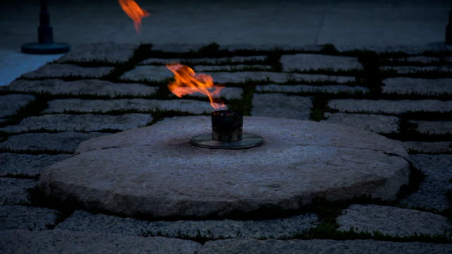 john f. kennedy eternal flame - arlington national cemetery stock videos and b-roll footage