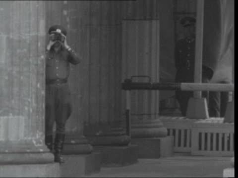arrival at dublin ***also germany west berlin ext ms john f kennedy up dais bv kennedy pan crowd ms east german looks through binoculars bv kennedy... - binoculars stock videos & royalty-free footage