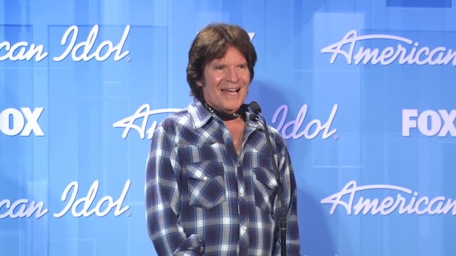 john fogerty at american idol season 11 grand finale show photo room on 5/23/12 in los angeles ca - american idol stock videos and b-roll footage