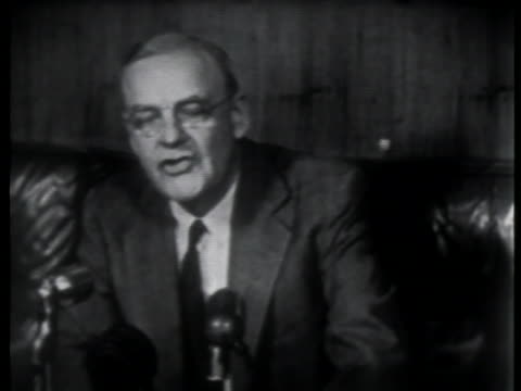 john foster dulles says of the japanese peace treaty that at last we are building a new peace in the pacific. - pacific war stock-videos und b-roll-filmmaterial