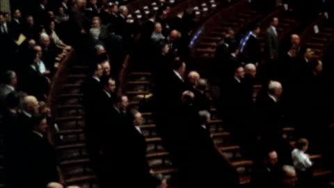 stockvideo's en b-roll-footage met ms john glenn addressing joint congress - politiek