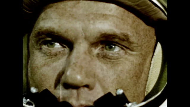 john glenn entering friendship 7 capsule during project mercury mission - 1962 stock videos & royalty-free footage