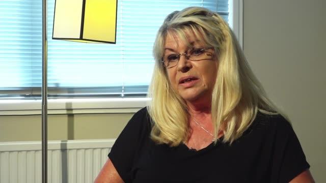 stockvideo's en b-roll-footage met john 'goldfinger' palmer murder: widow interview; england: int marnie palmer interview sot - itv