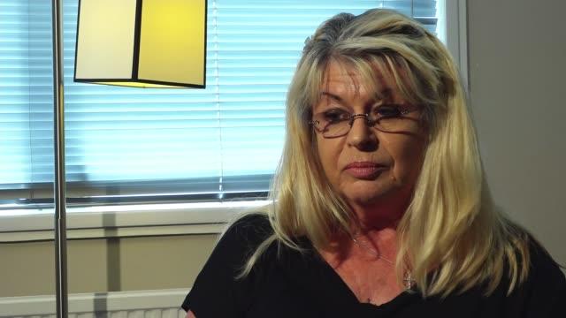 john 'goldfinger' palmer murder: widow interview; england: int marnie palmer interview sot - widow stock videos & royalty-free footage