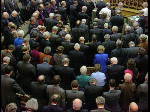 john gummer resigns; church house seq synod in session as delegates in opening prayers - synod stock videos & royalty-free footage