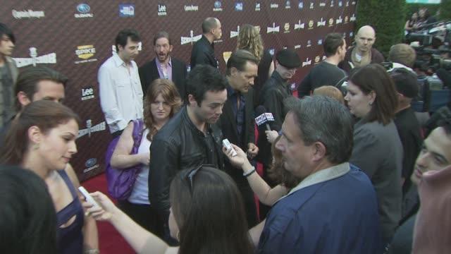 john hensley at the spike tv's scream 2008 at los angeles ca. - scream named work stock-videos und b-roll-filmmaterial