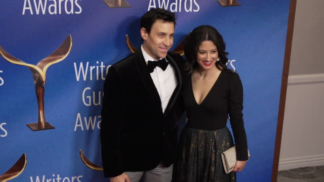 john herrera at the 2020 writers guild awards at the beverly hilton hotel on february 01 2020 in beverly hills california - the beverly hilton hotel stock videos & royalty-free footage