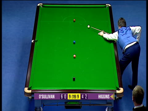 vídeos de stock, filmes e b-roll de john higgins pots all colours to complete his clearance and clinch title 6460 in deciding frame after one of closest matches ever the masters final... - bem estar mental