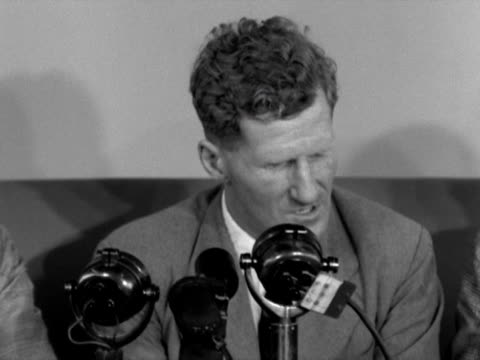 stockvideo's en b-roll-footage met john hunt translates tenzing norgay's feelings on reaching the sumit of mount everest with edmund hillary - tenzing norgay