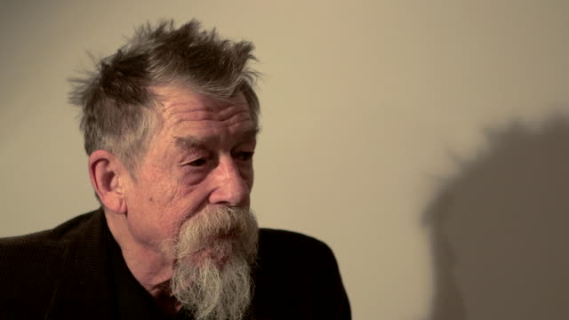 interview john hurt on 'doctor who' at 'snowpiercer' interviews on february 8 2014 in berlin germany - doctor who stock videos & royalty-free footage